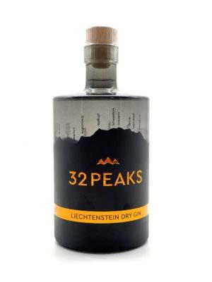 32PEAKS Liechtenstein Dry Gin Flasche